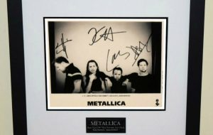 #3-Metallica Signed 8×10 Photograph