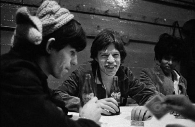 Mick Jagger and Keith Richards Poker