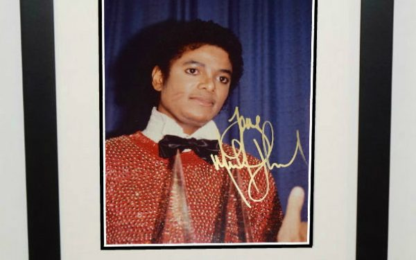 #1-Michael Jackson Signed 8×10 Photograph