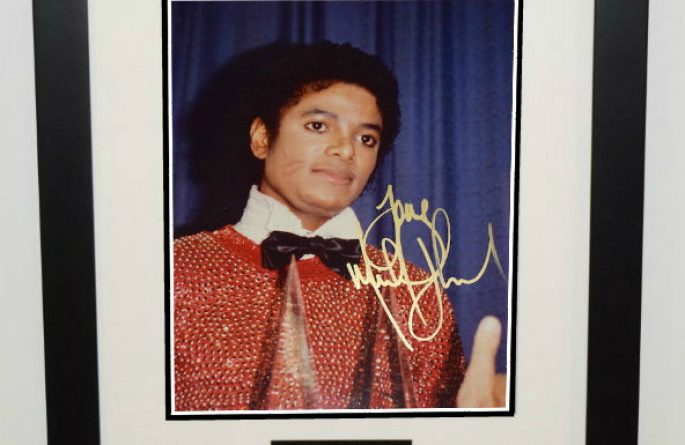 #1-Michael Jackson Signed 8×10 Photograph