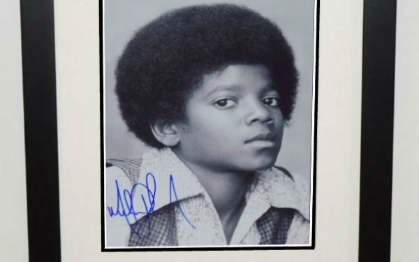 #2-Michael Jackson Signed 11×14 Photograph