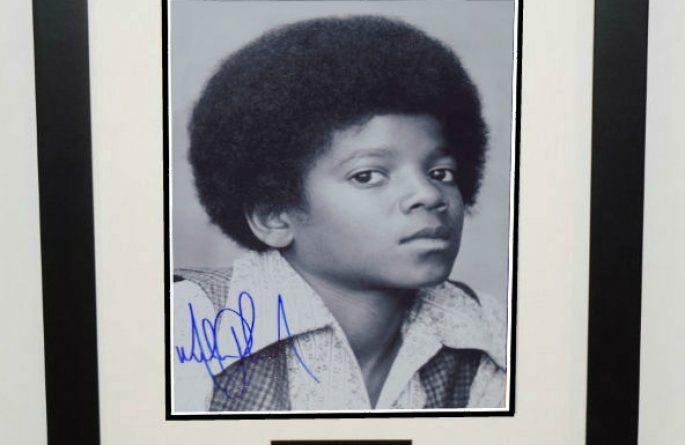 #2-Michael Jackson Signed 11×14 Photograph