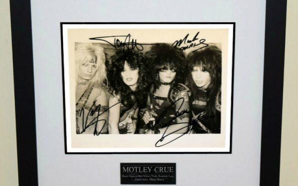 #1-Motley Crue Signed 8×10 Photograph