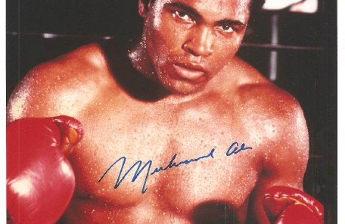 #6-Muhammad Ali Signed  8×10 Photograph
