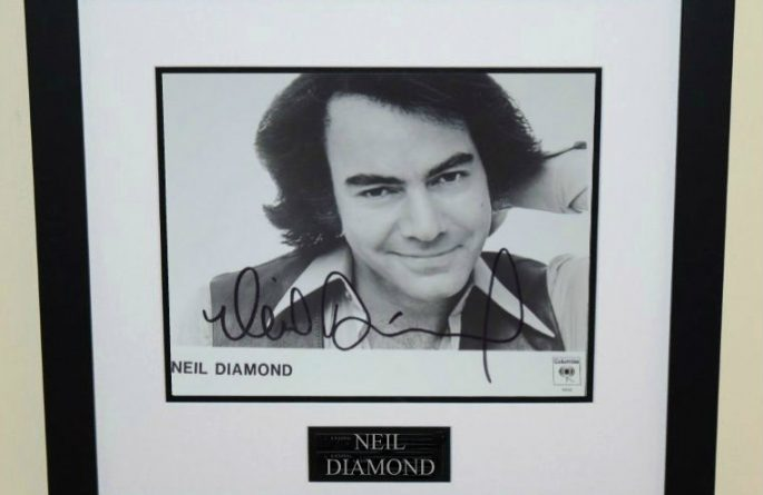 #2-Neil Diamond Signed 8×10 Photograph