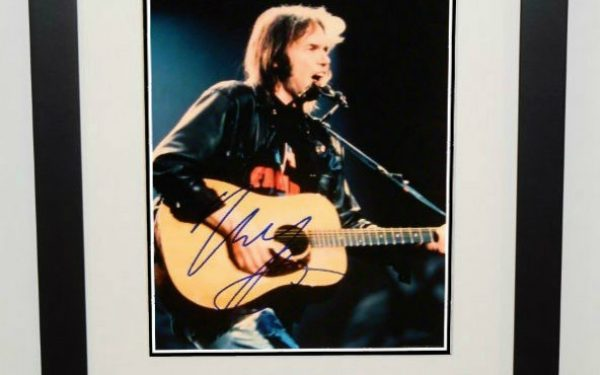 #1-Neil Young Signed 8×10 Photograph