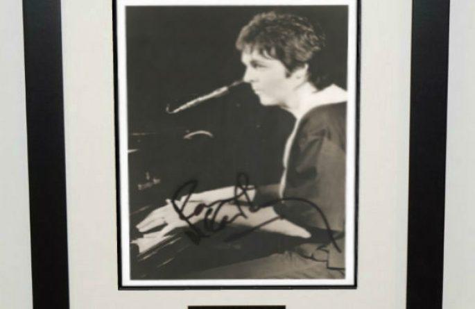 #3-Paul McCartney Signed 8×10 Photograph