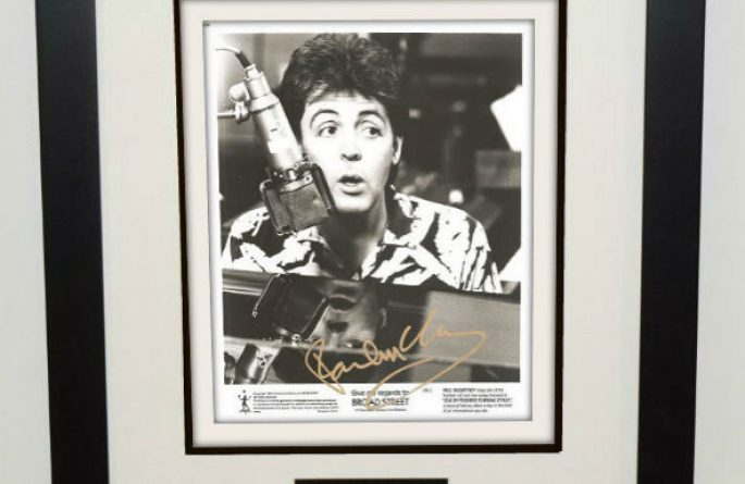 #1-Paul McCartney Signed 8×10 Photograph