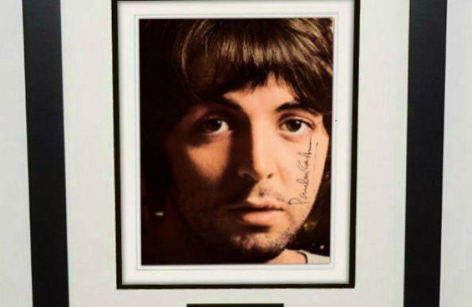 #7-Paul McCartney Signed 8×10 Photograph