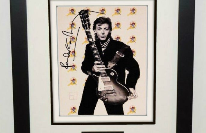 #9-Paul McCartney Signed 8×10 Photograph