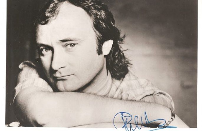 Phil Collins Signed  8×10 Photograph