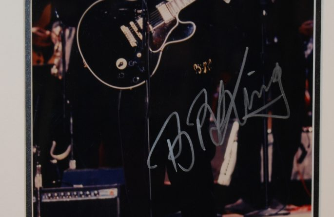 #1-BB King Signed 8×10 Photograph