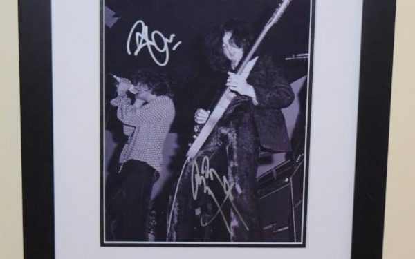 #3-Robert Plant and Jimmy Page Signed 8×10 Photograph