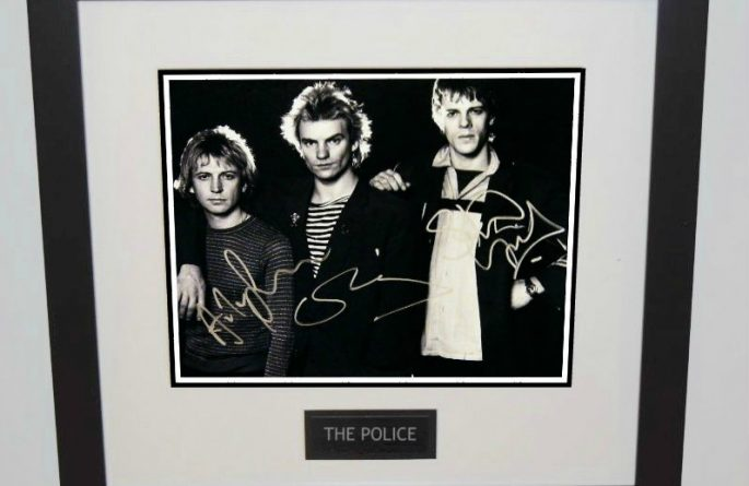 #2-The Police Signed 8×10 Photograph