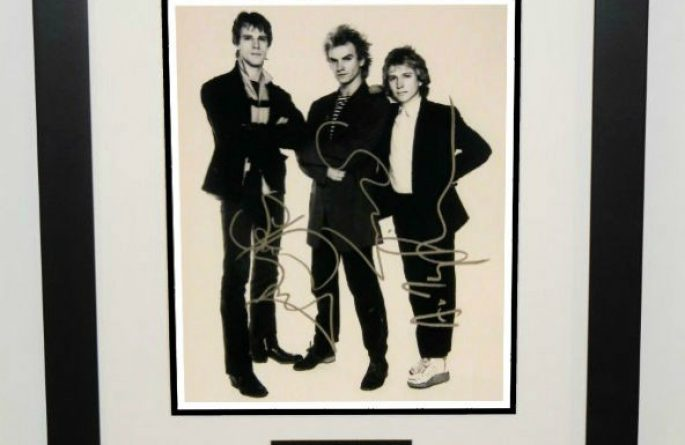 #1-The Police Signed 8×10 Photograph