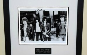 The Ramones Signed 8×10 Photograph