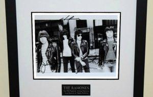 Ramones Signed 8×10 Photograph
