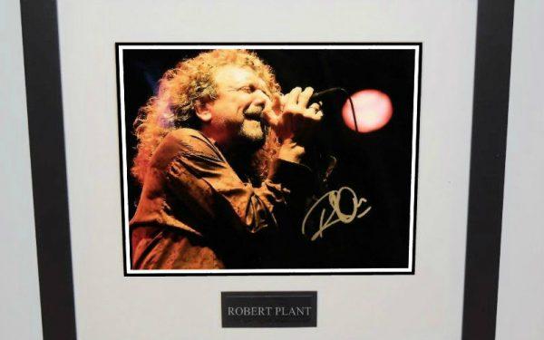 #1-Robert Plant Signed 8×10 Photograph