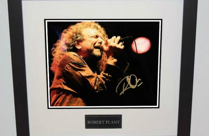 #1-Robert Plant Signed 8×10 Photograph