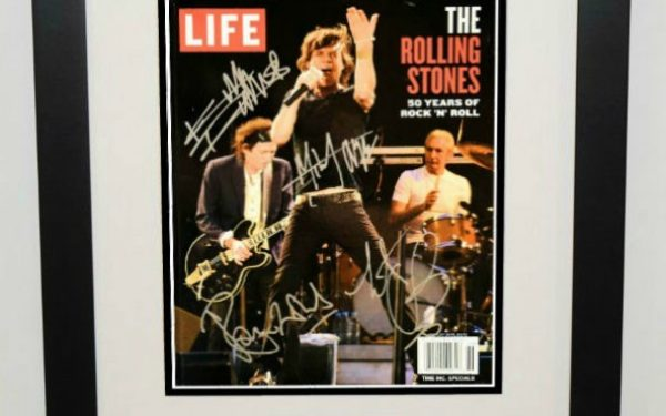 #1-Rolling Stones Signed Life Magazine Cover