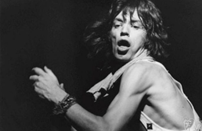 Mick Jagger of The Rolling Stones on stage at MSG, NYC. July 24, 1972