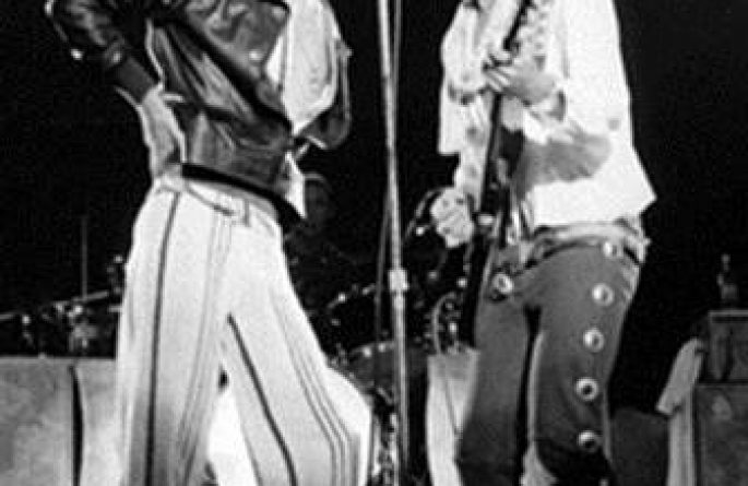 B&W Mick Jagger & Keith Richards Live, Baton Rouge, LA, 1975