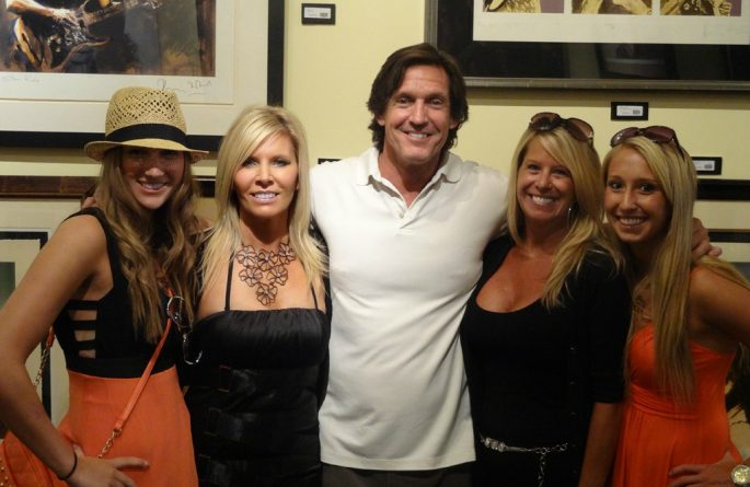 Artist, Stacey Wells with ROCK STAR gallery owner Michael Dunn