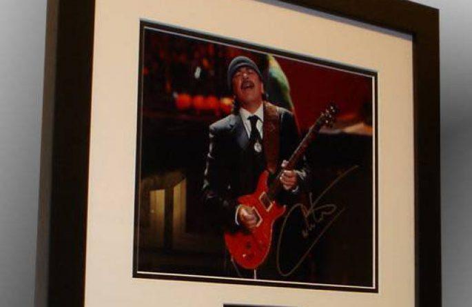 #1-Santana Signed 8×10 Photograph
