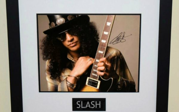 #1-Slash Signed 16×20 Photograph