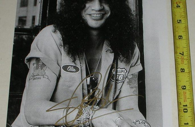 #4-Slash Signed 11×14 Photograph
