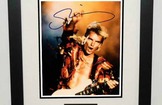 #3-The Police – Sting Signed 8×10 Photograph