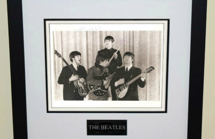 #2-The Beatles Signed 8×10 Photograph