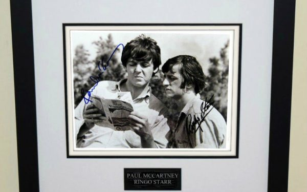 #3-The Beatles  – Paul McCartney & Ringo Starr Signed Photograph