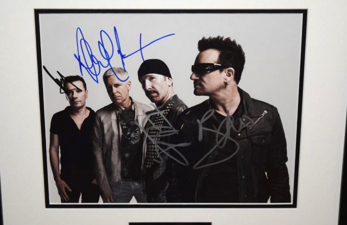 #2-U2  Signed 8×10 Photograph