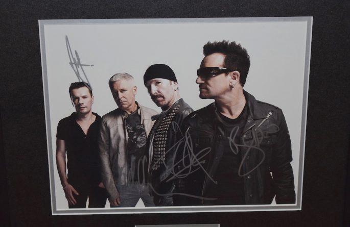 #3-U2 Signed 8×10 Photograph