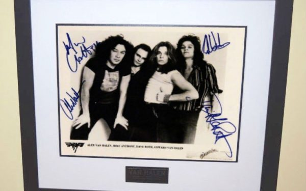 #7-Van Halen 1978 Signed Promotional 8×10 Photograph