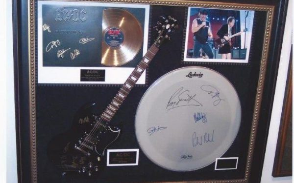 #1 AC/DC Signed Guitar Display