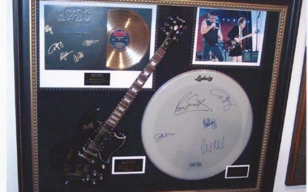 #1 AC/DC Signed Guitar Display