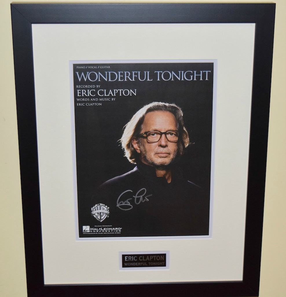 eric clapton wonderful tonight signed sheet music hand signed collectiblesrock star gallery. Black Bedroom Furniture Sets. Home Design Ideas