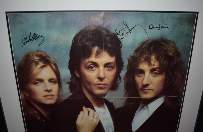 #3 Paul McCartney, Wings Signed Poster