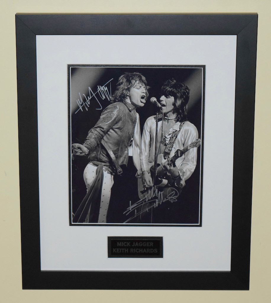 Keith Richards Mick Jagger Signed 8 215 10 Photo Rock Star