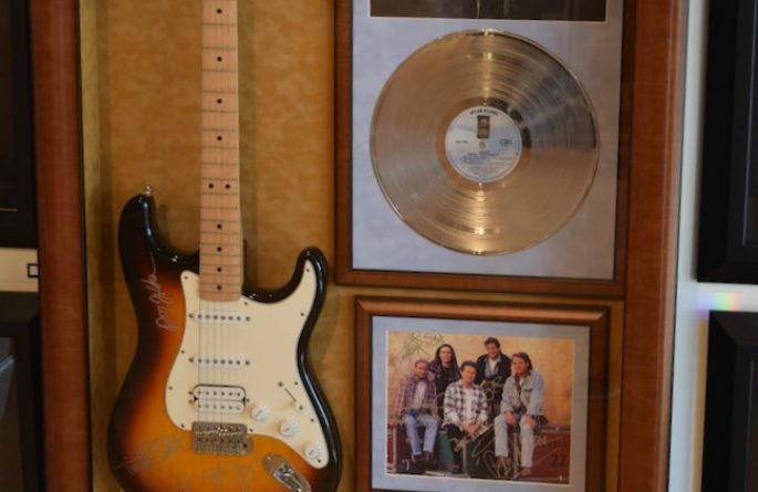 #2 Eagles Signed Guitar Display
