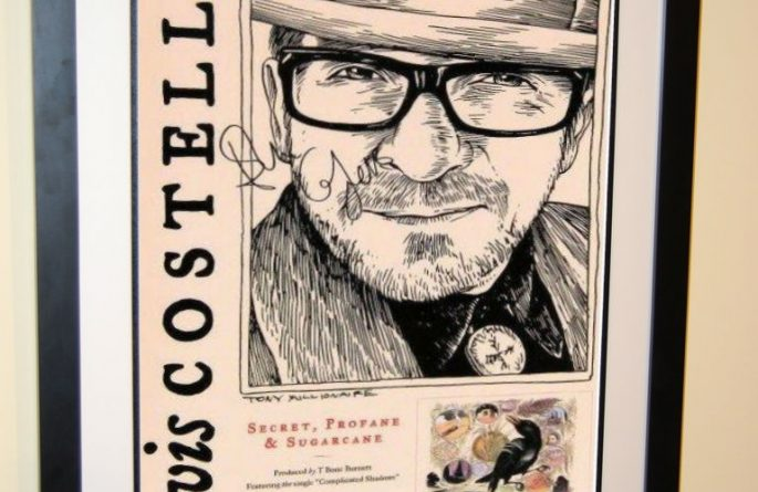 Elvis Costello Signed Poster