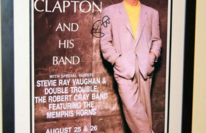 Eric Clapton Signed Poster