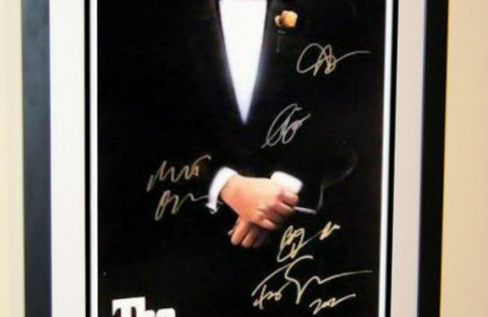 #3 The Godfather Signed Movie Poster