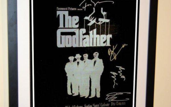 #1 The Godfather Signed Movie Poster