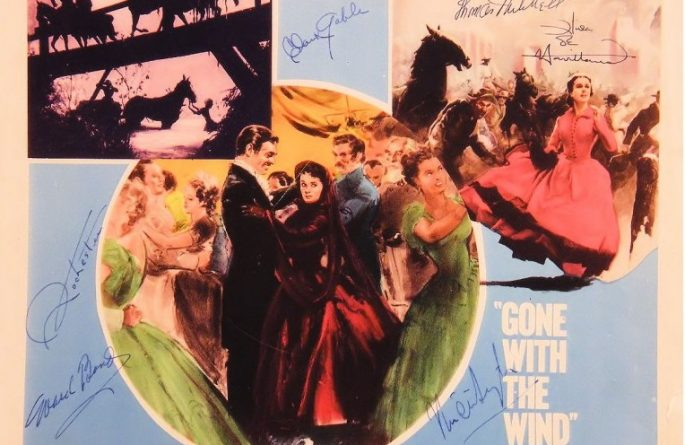 Gone With The Wind Signed  Cast Lobby Card
