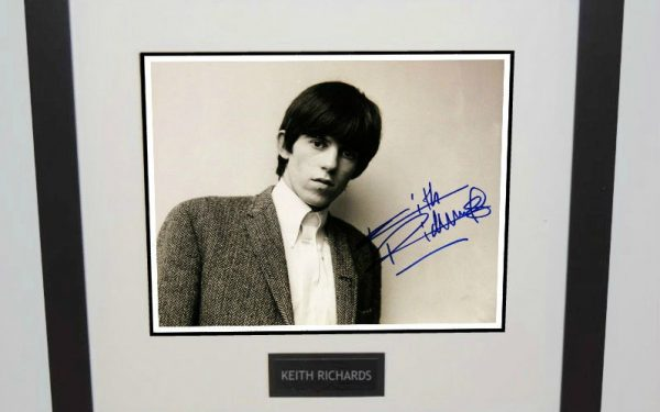 #9-Keith Richards Signed 8×10 Photograph