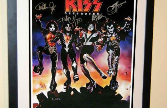 #1 KISS Signed Poster