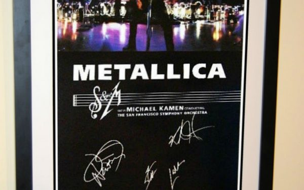 #1 Metallica Signed Poster